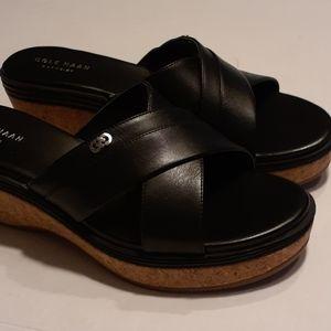 Cole Haan Grand OS cork wedge sandal